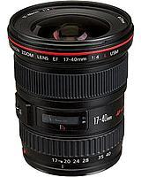 Canon EF 17-40mm f/4L USM Ultra-Wide Zoom Lens Black 8806A002