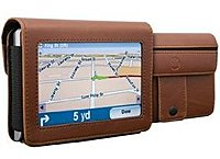 DLO DLG24199/17 4.3-inch TravelFolio GPS Leather Case - Brown