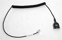 Sennheiser CSTD01 Black Standard Bottom Headset Cable - Easy Disconnect to Modular Plug