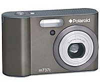Polaroid M737T 7.0 Megapixels Digital Camera - 3x Optical Zoom/4x Digital Zoom - 3-inch LCD Display - Gun Metal Gray