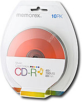 Memorex 32020016658 700 MB CD-R Disc Blister - Multicolor...