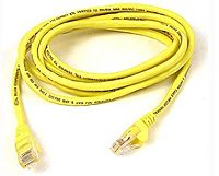 Belkin A3L791-06-YLW-S 6 Feet Cat 5e UTP Patch Cable - RJ-45 Male/Male - Yellow