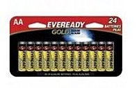 Gold Alkaline AA Batteries deliver long lasting power that today's devices need, at an economical price