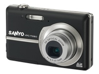 Sanyo VPC-T1060 Compact Digital camera - 10.0 Mpix - 2.8-inch LCD - 3x Optical Zoom - 640 x 480 Video - Black VPC-T1060BK