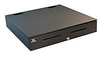 APG Series 4000 JB484A-BL2020-C 20 x 20 inches SerialPRO II Cash Drawer - Black