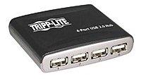 Tripp Lite U225-004-R 4-Port USB 2.0 Hub - 480 Mbps - External - Black/Silver
