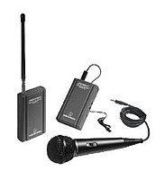 Audio Technica ATR 288W 500 Ohm VHF Wireless Microphone for Camcorder Black