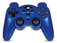 dreamGEAR DGPS3-1384 Radium Wireless Gaming Pad for PlayStation 3 - Blue