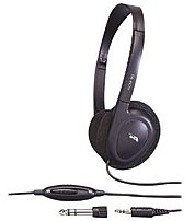 Cyber Acoustics Acm-90b Stereo Headphone - 32 Ohm - Wired - Semi-open - Black