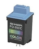 Sharp Fo-25cc Inkjet Print Cartridge - 200 Pages - 1-pack - Yellow, Cyan, And Magenta