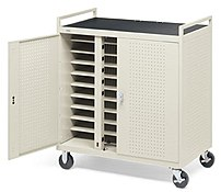Bretford D30CFR 30-Laptop Storage Cart - Steel