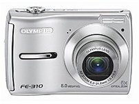 Olympus 226175 Fe-310 Digital Camera - 4x Digital/5x Optical Zoom - 2.5-inch Lcd Display - Silver