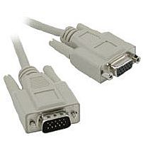 Cables to Go 02717 6 Feet VGA Extension Cable 1 x 15 pin HD D Sub HD 15 Male Female Beige