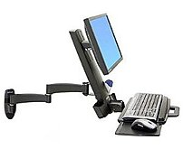 Ergotron 200 Series 45 230 200 Combo Arm for 24 inch Display Black