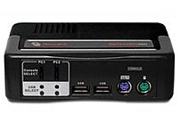 Avocent SwitchView 4SVPUA20-001 4-Port Multimedia KVM Switch with Audio PS/2 and USB 2.0