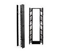 Chartsworth 30091-503 19-inch 1U Cable Management Panel - Black
