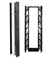 Chatsworth 30095-703 Aluminum, Plastic Cable Management Panel - Black
