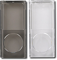 Init Nt-mp403 Acrylic Case For 4th Generation Ipod Nano - Clear/gray - 2-pack