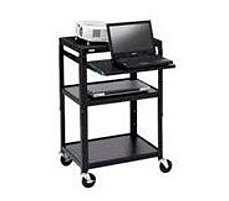 Bretford A2642NS Adjustable A V Projector Cart for 26 to 42 inches TV Laptop Computer Black powder