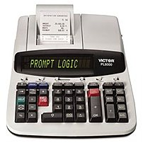 Victor Technology Vctpl8000 Pl8000 Desktop Calculator - 14 Digits - 8 Lps - Backlit Dot Matrix - Black