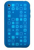 XtremeMac Tuffwrap 01927 Tatu Smartphone Skin for Apple iPhone 3GS - Squares - Blue
