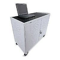Bretford LAP30ERBBA-GM 30 Unit 8-inch casters Laptop Storage Cart