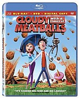 Sony Pictures Home ENT 043396215665 Cloudy With a Chance of Meatballs 2 Discs Blu ray 90 Minutes