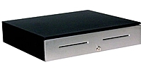 APG JD320-BL1820-C MultiPRO 24V Cash Drawer - Stainless Steel - Coin Roll Storage Till - Black JD320-BL1820-C