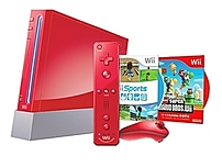 Nintendo RVLSRAAK Wii Gaming Console - Red