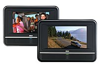 RCA DRC6272 Twin Mobile DVD Players - 7-inch Display - Plays 2 DVDs