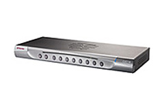 The Raritan MasterConsole 8 Port KVM Switch is the perfect solution for consolidating your equipment if your small to midsize server room or data center is getting too cluttered control up to 8 servers, and switches can be cascaded to control up to 256 servers at distances of up to 150 feet.