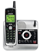 The Vtech CS5121 Cordless Phone with Digital Answering System and Caller ID operates on the enhanced 5.8 GHz frequency for clear reception that won't interfere with WiFi networks in your home