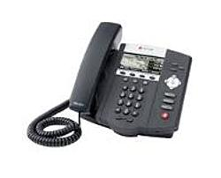 The SoundPoint IP 450 phone was designed to bring advanced telephony features and applications to cubicle office workers handling a moderate volume of calls