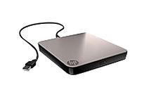 HP BU516AA Mobile USB CD/DVD Drive - USB 2.0 - External - Black/Gray