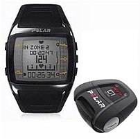 Polar FT60G1BLK Men's Heart Rate Monitor Watch with G1 GPS Sensor - Black