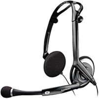 Plantronics Audio 400 DSP 76921-01 Foldable Multimedia Headset - Over-the-Head - Binaural - Wired