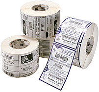 Zebra Z-Select 800322-125 4000D 2.25 x 1.25 inches Direct Thermal/Thermal Label - 12-Pack - White 800322-125