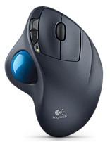 Logitech M570 Wireless Trackball Mouse Gray/Blue 910-001799