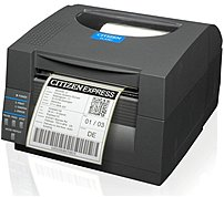Citizen CL-S521-E-GRY CL-S521 Direct Thermal Printer - 6 inches/second - 203 dpi - Ethernet 10/100Base-TX, Serial, USB - 110, 220V AC - Dark Gray