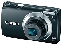 Canon PowerShot 5035B001 A3300 IS 16 Megapixels Digital Camera - 5x Optical Zoom/4x Digital Zoom - 3.0-inch LCD Display - SD Memory Card, MultiMediaCard - Black