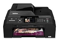 Brother Printer MFC-J5910DW Wireless Color Photo Printer with Scanner, Copier and Fax - 35 ppm (Mono) /27 ppm (Color) - 6000 x 1200 dpi (Mono) /6000 x 1200 dpi (Color) - Hi-Speed USB, Ethernet 10 Base-T/100 Base-TX, IEEE 802.11a/b/g/n - AC 110V
