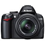 Nikon 25462 D3000 10.2 Megapixels Digital SLR Camera - 3x Optical Zoom - 3-inch Display - USB - Black