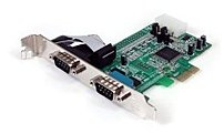 StarTech PEX2S553 Serial Adapter Card with 16550 UART - 2-Port - PCI Express - RS232 - Green