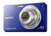 Sony Cybershot DSC-W560/L 14.1 Megapixels Digital Camera - 4x Optical/2x Digital Zoom - 3.0-inch LCD Display - Blue