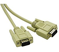 Cables To Go 09455 HD15 SVGA Male Male Monitor Cable 10 Feet Beige