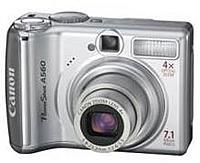 Canon Powershot 1774b001 A560 7.1 Megapixel Digital Camera - 4x Optical Zoom/ 4x Digital Zoom - 2.5-inch Display - Silver