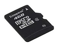 Kingston Technology SDC4 4GBSP microSDHC card offers higher storage for more music, more videos, more pictures, more games more of everything you need in today's mobile world
