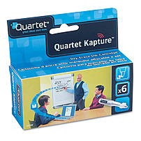 ACCO Quartet Kapture 034138237045 Dry-Erase Ink Refill Cartridges - 6-Pack - Black