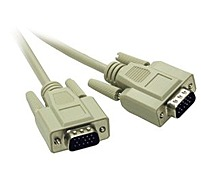 Cables To Go 02718 10 Feet Monitor Extension Cable - 1 x 15-pin HD-15 Male/Female - Beige