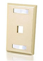 Cables To Go 03710 1-port Single Gang Multimedia Wall Plate - Ivory